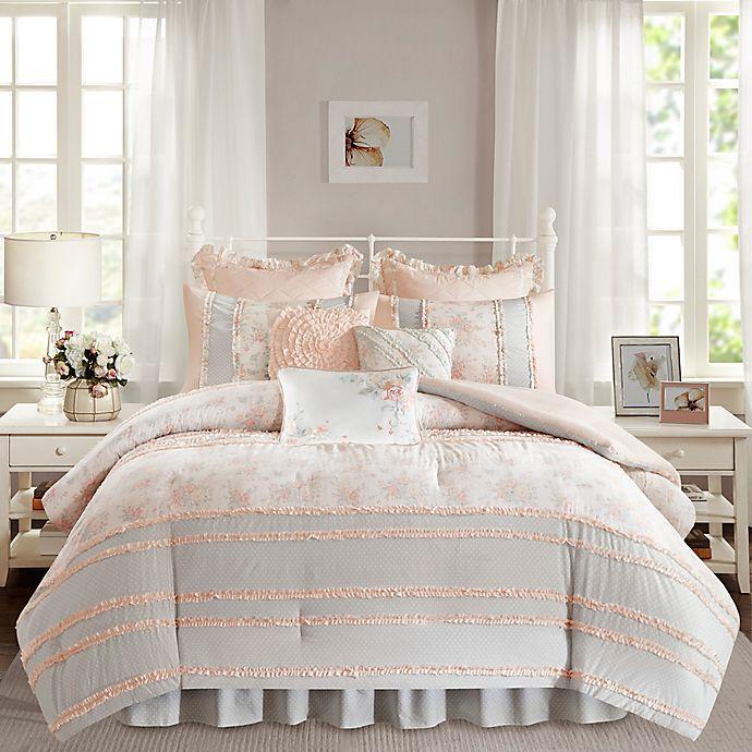 Alternate image 1 for Madison Park Serendipity Comforter Set in Coral