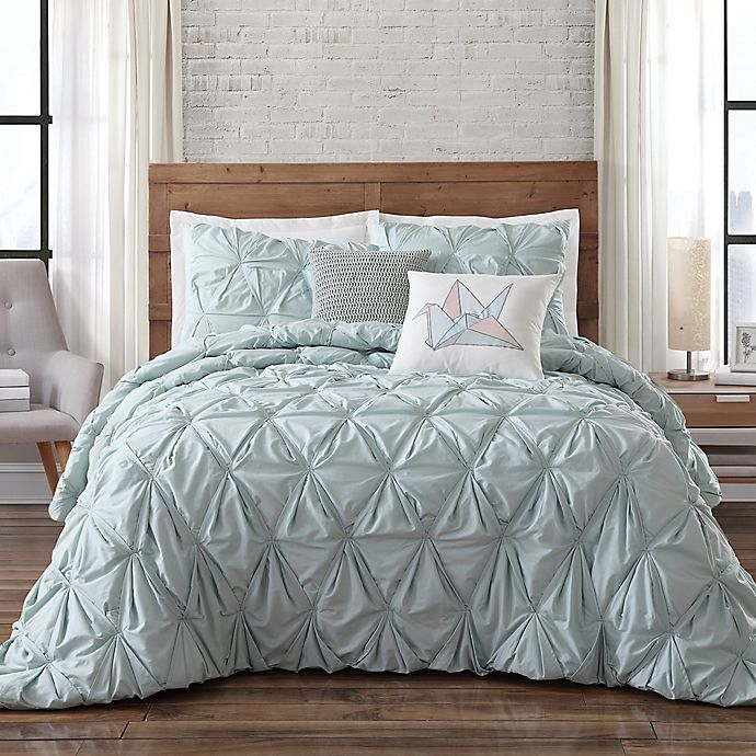 Brooklyn Loom Jackson Pleat Comforter Set Bed Bath Beyond