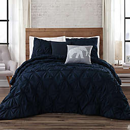 Brooklyn Loom Jackson Pleat Comforter Set