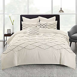Urban Habitat Sunita Twin XL Duvet Cover Set in White
