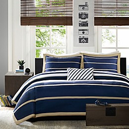Mi Zone Ashton Stripe Printed Twin/Twin XL Comforter Bedding Set