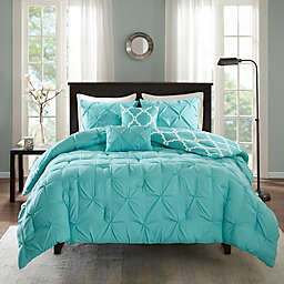 Madison Park Essentials Kasey 5-Piece Reversible King/California King Comforter Set in Aqua
