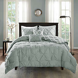 Madison Park Essentials Kasey 5-Piece Reversible Full/Queen Comforter Set in Grey
