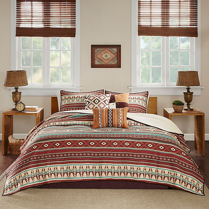 Alternate image 1 for Madison Park Taos 6-Piece Full/Queen Coverlet Set in Spice