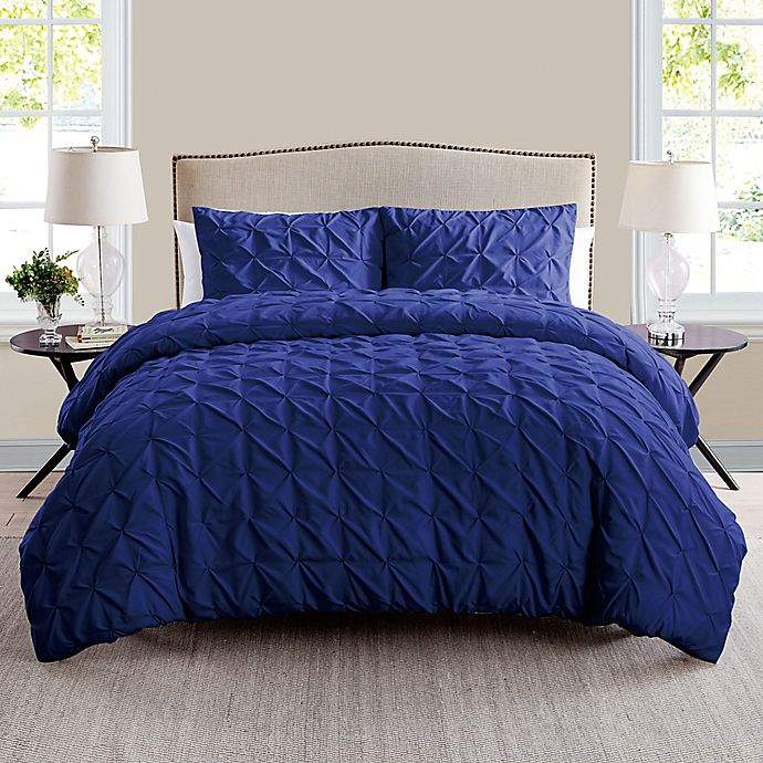 Alternate image 1 for VCNY Madalyn 2-Piece Twin XL Duvet Cover Set in Navy