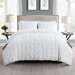 VCNY Home Scottsdale 2-Piece Reversible Twin XL Duvet Cover Set in White