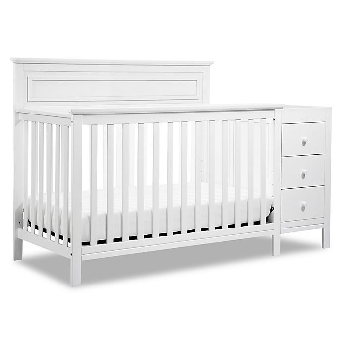 Alternate image 1 for DaVinci Autumn 4-in-1 Crib & Changer Combo in White