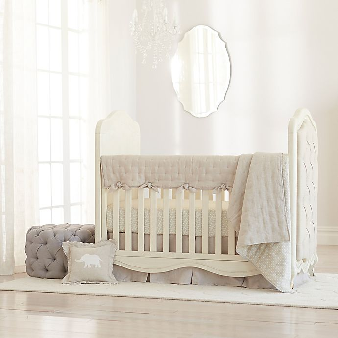 Alternate image 1 for Just Born® Keepsake Linen Crib Bedding Collection in Flax