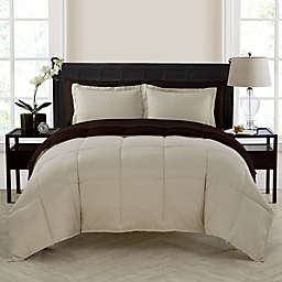 VCNY Home Lincoln 5-Piece Reversible Twin XL Down Alternative Comforter Set in Taupe