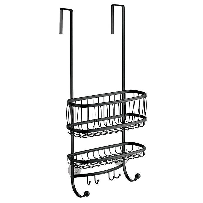Alternate image 1 for iDesign® York Lyra Over-the-Door Shower Caddy in Matte Black