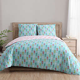Clairebella Tropical 3-Piece Reversible Duvet Cover Set