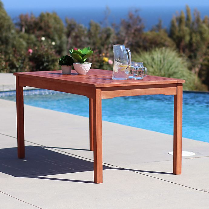 Alternate image 1 for Vifah Classic Wood Table in Natural