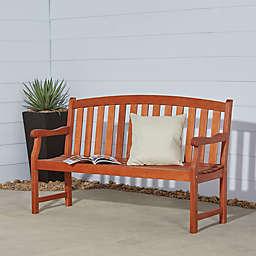 Vifah Classic Wood Bench in Natural