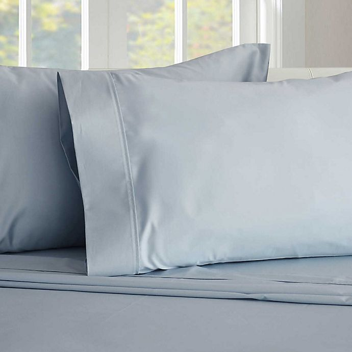 Alternate image 1 for Therapedic® 450-Thread-Count Queen Sheet Set in Blue