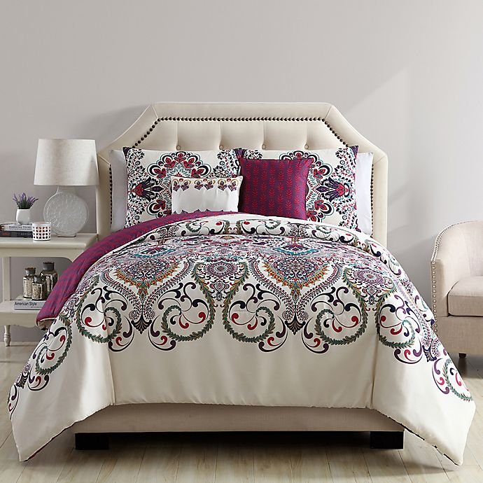 Alternate image 1 for VCNY Home Amherst 5-Piece Reversible Comforter Set