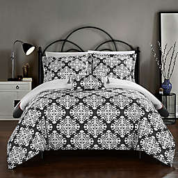 Chic Home Mallow Reversible Queen Duvet Cover Set in Grey