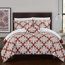Chic Home Mallow Reversible Twin Duvet Cover Set in Marsala