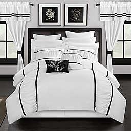 Chic Home 24-Piece Queen Comforter Set in Bright White