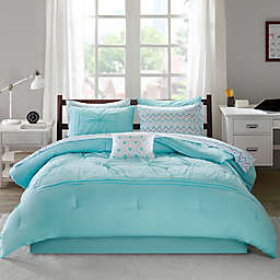 Intelligent Design Toren 7-Piece Twin XL Comforter Set in Aqua