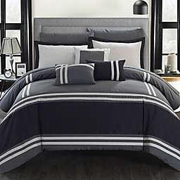 Chic Home Annabel 10-Piece Queen Comforter Set in Grey