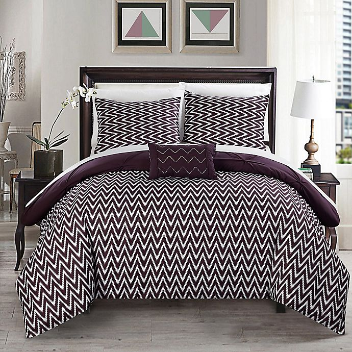 Alternate image 1 for Chic Home Portia 4-Piece Reversible Comforter Set