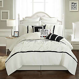 Chic Home Palmetto 16-Piece King Comforter Set in White