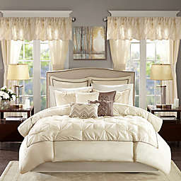 Madison Park® Essentials Joella 24-Piece Queen Comforter Set in Ivory