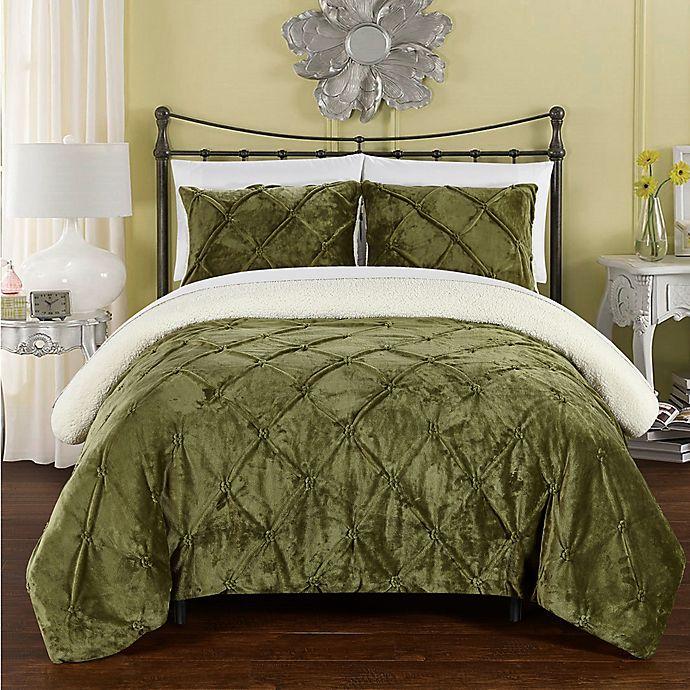 Alternate image 1 for Chic Home Aurelia 2-Piece Twin XL Comforter Set in Green