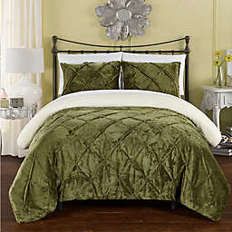 Chic Home Aurelia 2-Piece Twin XL Comforter Set in Green
