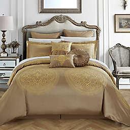 Chic Home Lira 13-Piece Queen Comforter Set in Gold
