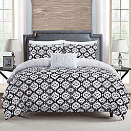Chic Home Aera 4-Piece Reversible King Duvet Cover Set in White