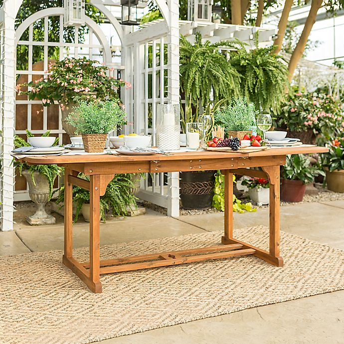 Alternate image 1 for Forest Gate Eagleton Acacia Wood Butterfly Patio Table