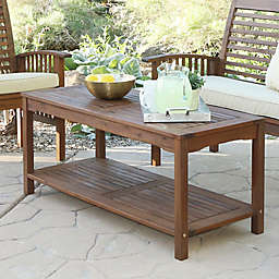 Forest Gate Eagleton Acacia Outdoor Coffee Table in Dark Brown