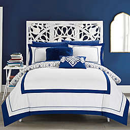 Chic Home Jejomar 7-Piece Reversible Twin Comforter Set in Blue