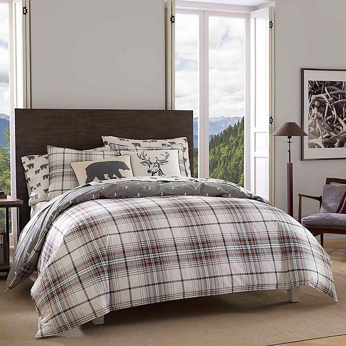 Alternate image 1 for Eddie Bauer® Alder Plaid Reversible Comforter Set