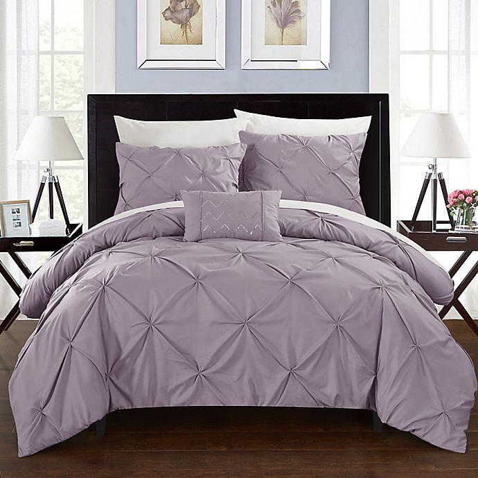 Alternate image 1 for Chic Home Weber Twin Duvet Cover Set in Lavender