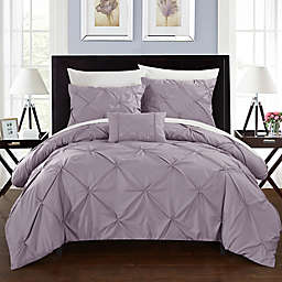 Chic Home Weber Twin Duvet Cover Set in Lavender