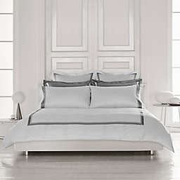 Frette at Home Arno Queen Duvet Cover in White/Grey