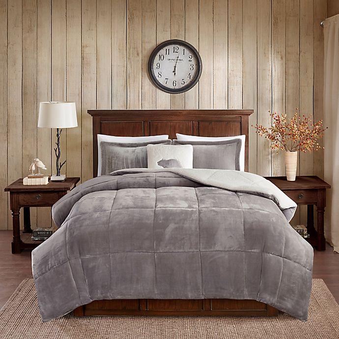 Alternate image 1 for Woolrich® Alton Plush to Sherpa 4-Piece Comforter Set