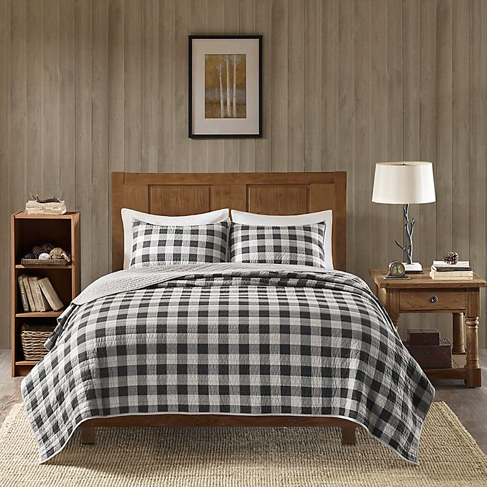 Alternate image 1 for Woolrich® Buffalo Check Oversized 3-Piece King/California King Quilt Set in Grey
