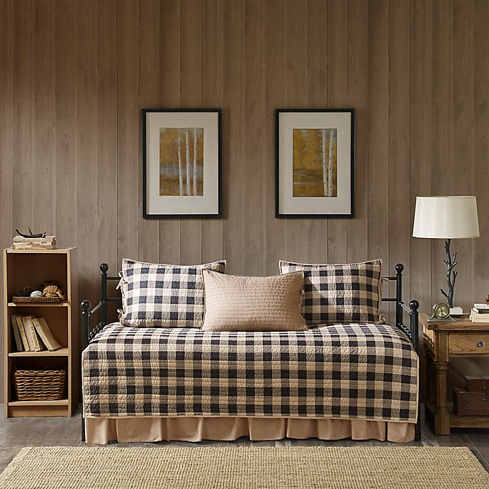 Alternate image 1 for Woolrich® Buffalo Check Reversible Daybed Set in Tan