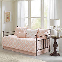 Madison Park Essentials Merritt Reversible Daybed Set in Blush