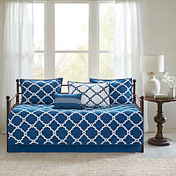 Madison Park Essentials Merritt Reversible Daybed Set in Navy