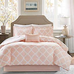 Madison Park Essentials Merritt 9-Piece Reversible Queen Comforter Set in Blush
