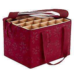 Classic Accessories® Seasons Ornament Organizer Storage Bin in Cranberry
