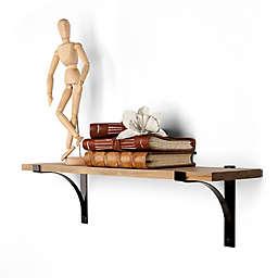 Danya B.™ Pine Shelf with Metal Brackets