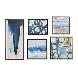 "Madison Park ""Blue Bliss Gallery"" 5-Piece Canvas Wall Art Set"