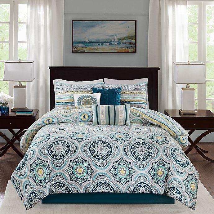 Alternate image 1 for Madison Park Mercia Reversible Comforter Set