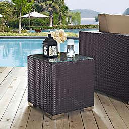 Modway Convene Outdoor Patio Side Table in Espresso