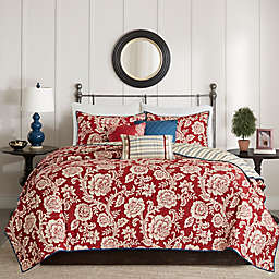 Madison Park Lucy Reversible King/California King Coverlet Set in Red